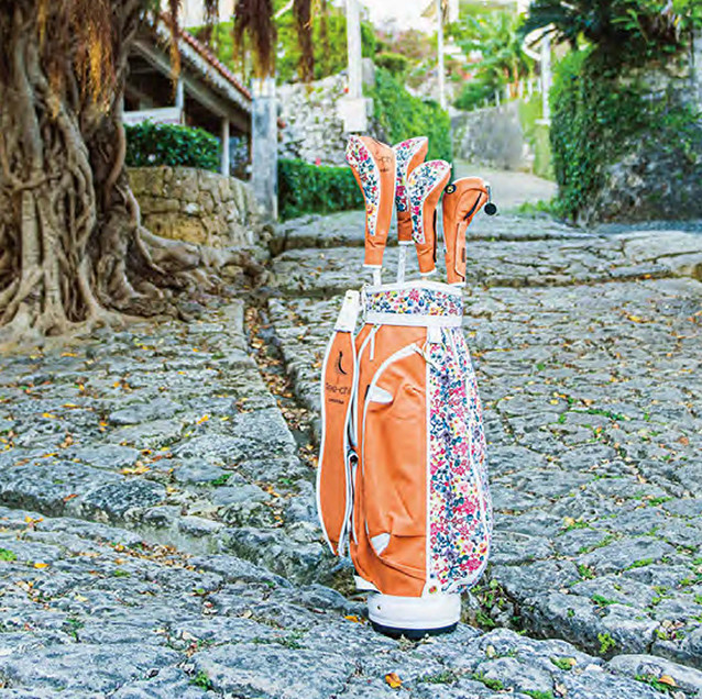 Tee-chiゴルフバッグと首里金城町の石畳