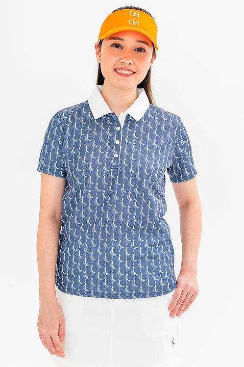 Tee-chi レディースポロシャツ <千鳥><NAVY>