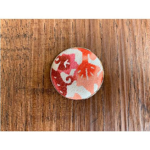 Tee-chi ボールマーカー<紅型・ラウンド・ピンク>