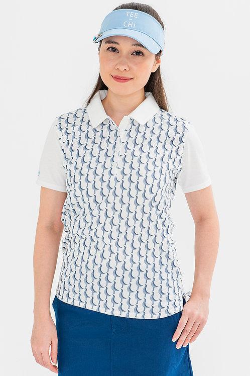 Tee-chi レディースポロシャツ <千鳥><WHITE>