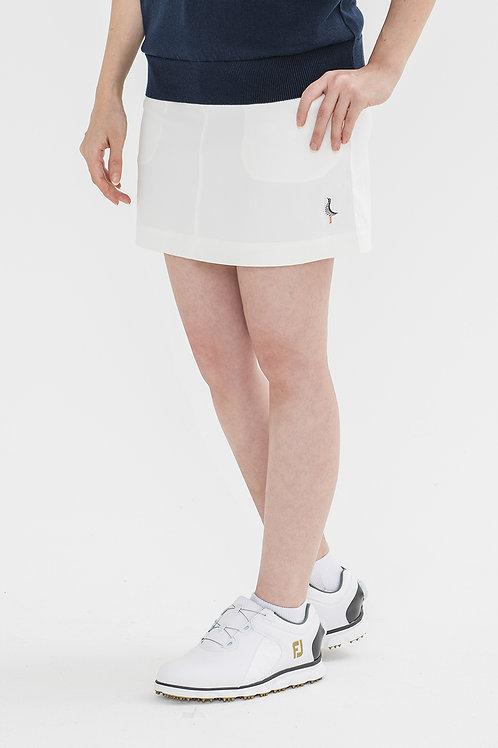 Tee-chi レディーススカート <千鳥><WHITE>