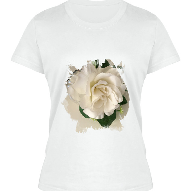White Floral T
