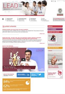Bureau Veritas LEAD website