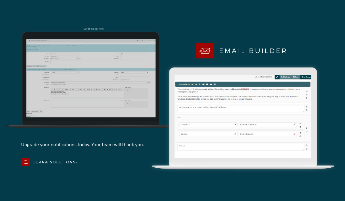 Upgrade email workflow notifications builder servicenow app store