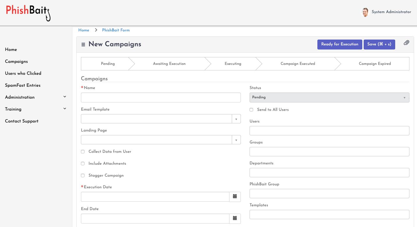 phishbait create fake phishing email campaigns servicenow