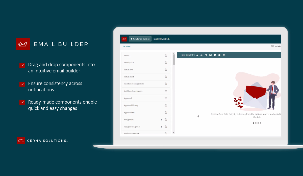Email Builder notifications application for ServiceNow
