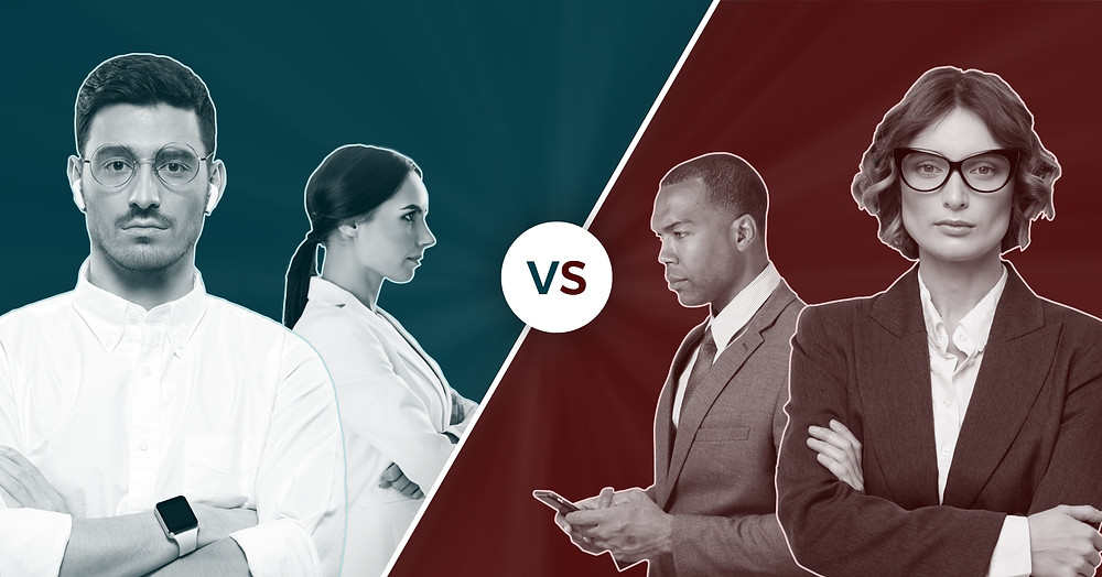 HR Human Resources versus IT Information Technology departments use servicenow