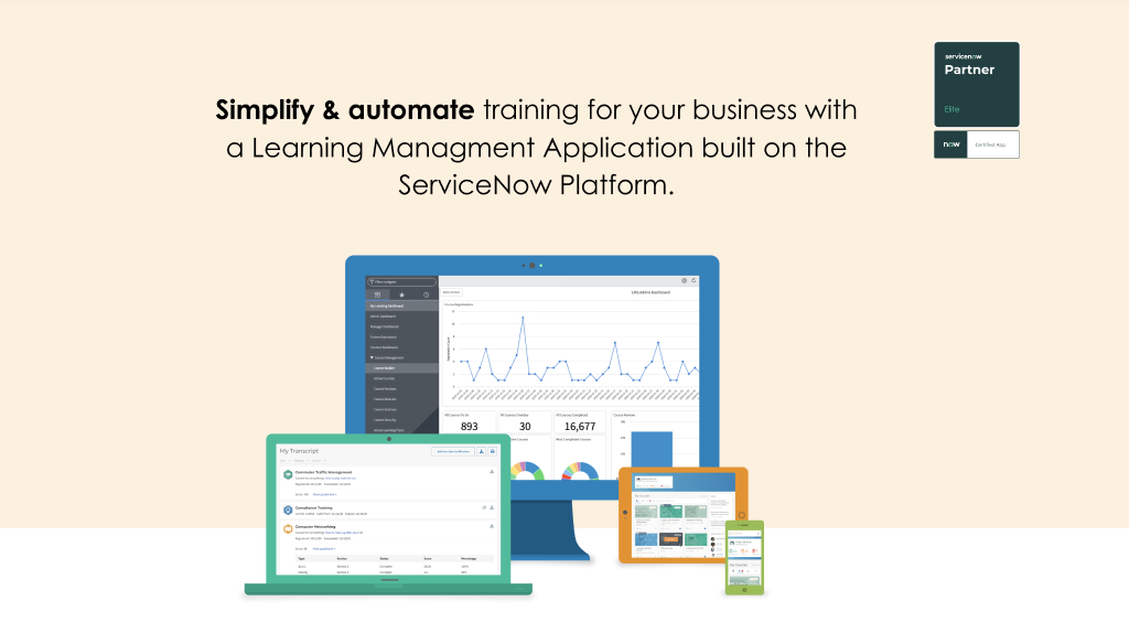 platcore learning management system app devices servicenow app