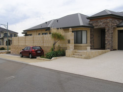 Paving, Limestone Wall, Stairs and Cladding