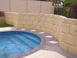 Personalised Paving & Limestone Feature