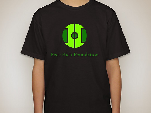 Free Kick Black T-Shirt - Kids