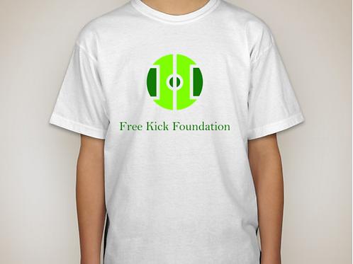 Free Kick White T-Shirt - Kids