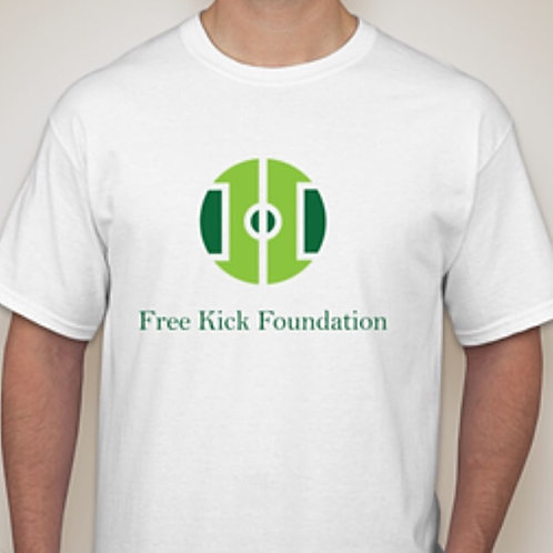 Free Kick White T-Shirt - Adult
