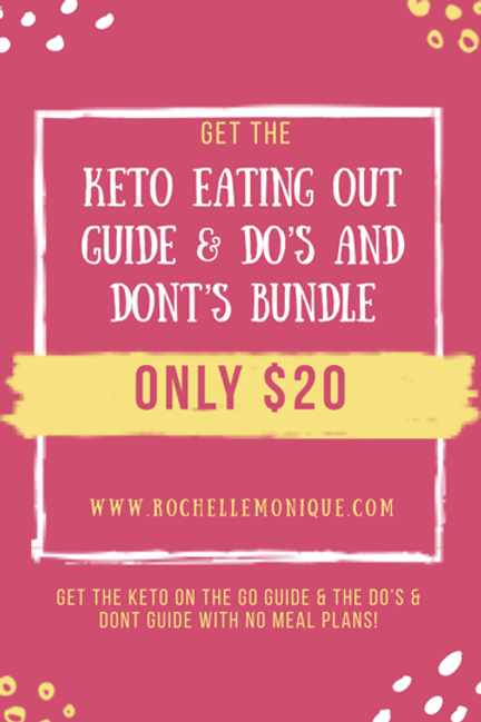 Keto Eating Out Guide & Do's and Don't Bundle