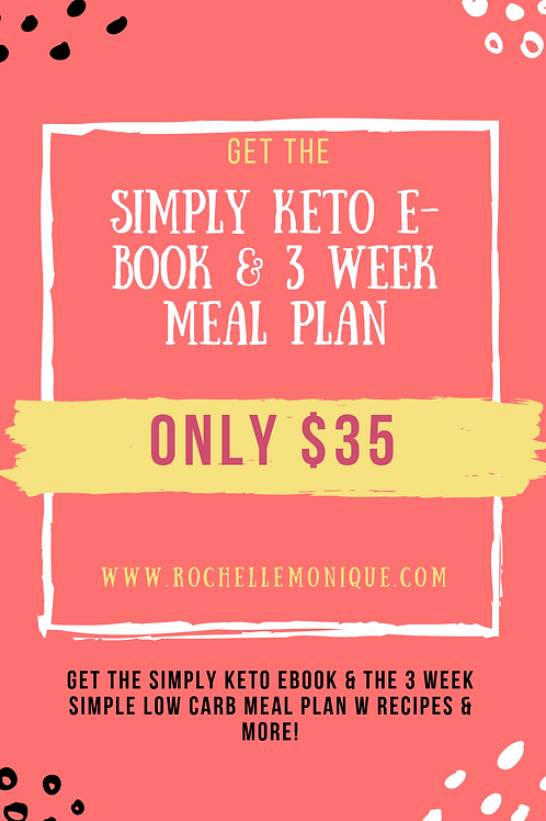 Simply Keto Ebook & Meal Plan Bundle