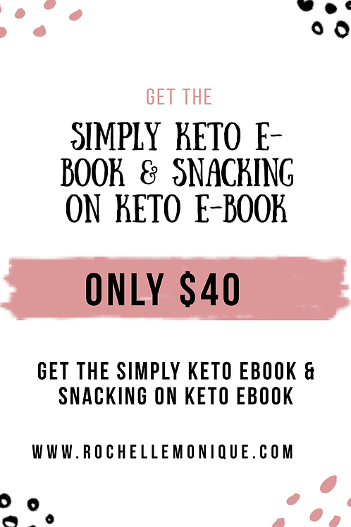 Simply Keto & Snacking On Keto E-Book Bundle