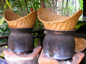 Rice steamers, Laos