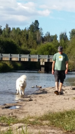 Mike and Alice (Maisie's predecessor) at the Deschutes River
