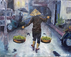 Apple Seller in Hanoi