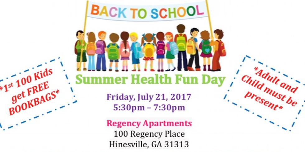 "Back to School ""Summer Health Fun Day"""