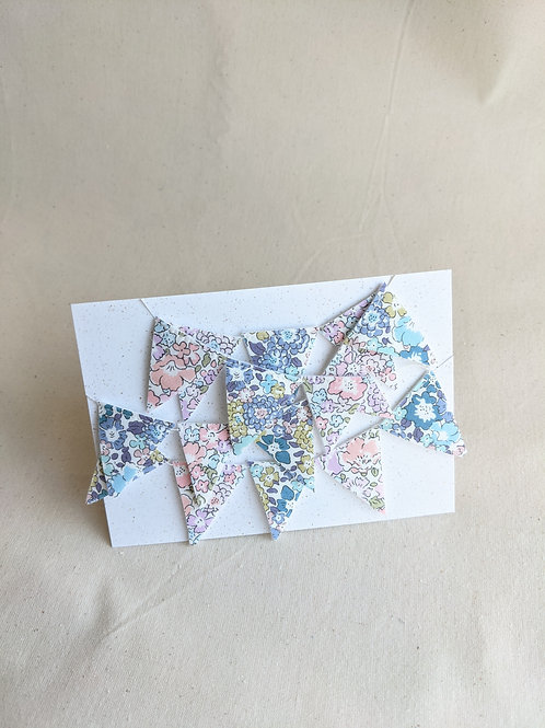 Mini Liberty Bunting - Michelle Pink & Blue (29 Flags)