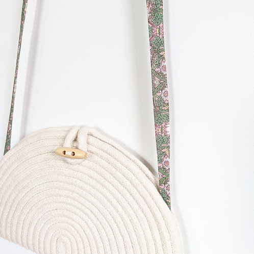 Liberty London Coiled Clutch Bag - Strawberry Thief Pink and Green