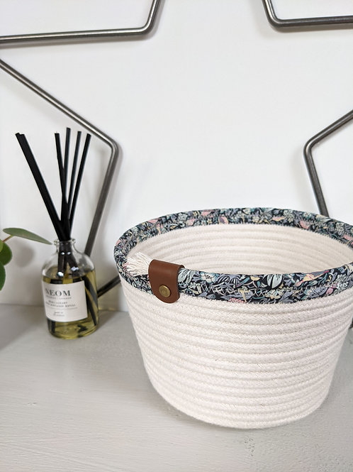 Liberty Rope Bucket - Strawberry Thief 'Mint'