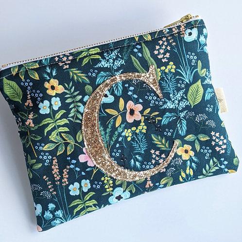 Liberty Tana Lawn Monogram Makeup Bag
