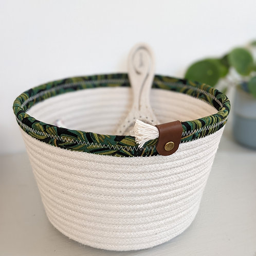 Rifle Paper Co. Rope Bucket - Monstera