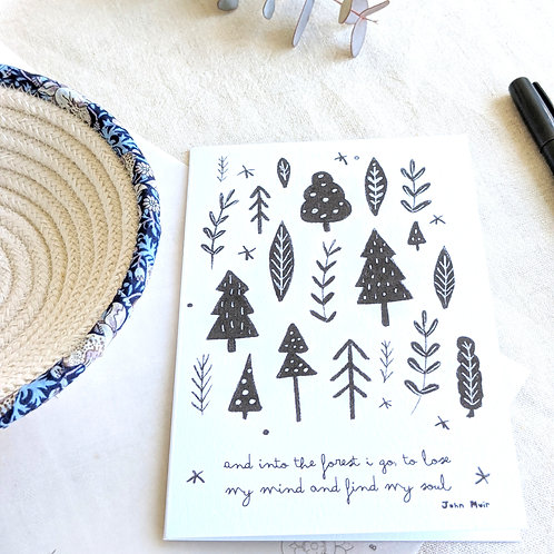 'Into the forest' card