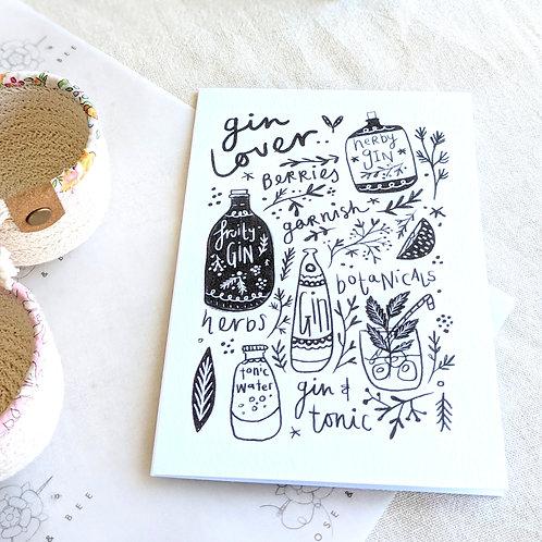 'Gin Lover' card