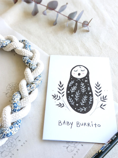 'Baby Burrito' card