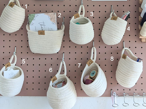 Soft Rope Pegboard Storage