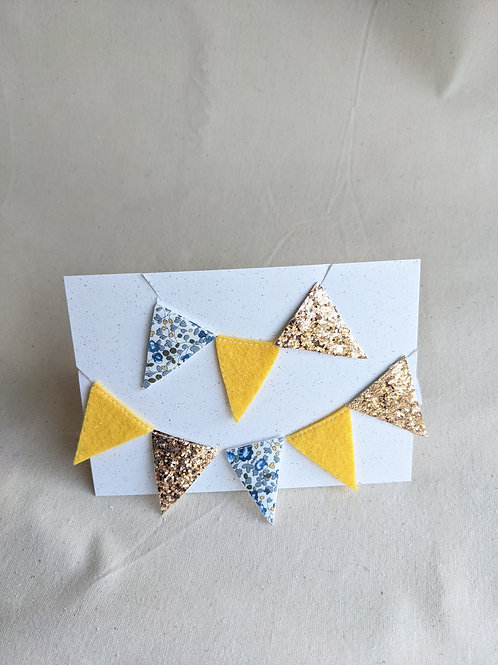 Mini Liberty Bunting - Eloise E, Felt & Glitter (15 Flags)