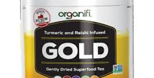 Organif gold juice, tumeric tea tub