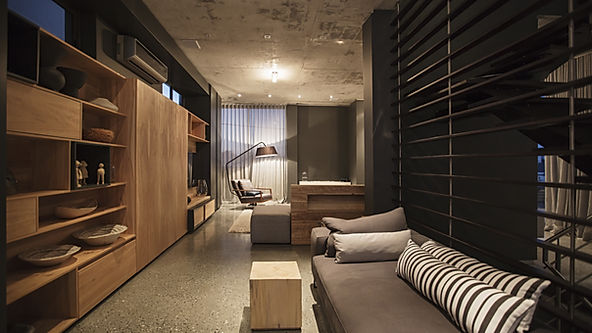 Living moderne mobilier sur mesure
