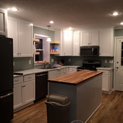 Oak flooring butcher block