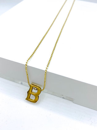 Initial Ball Chain Necklace