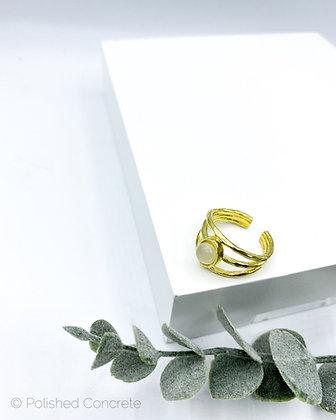 White Moonstone Ring