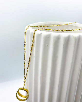 Ring and Chain Necklace