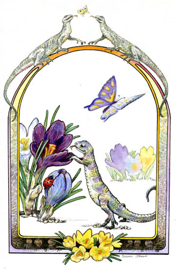 Lizard and Crocus