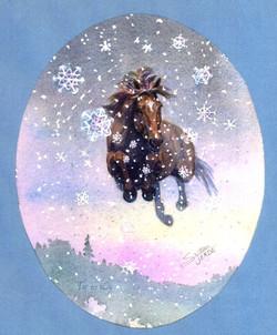 Flying Snow Horse