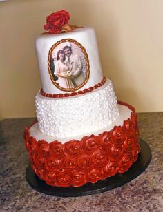 50th Wedding Anniversary - Red & White