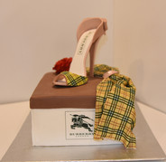 Burberry Inspired Cake