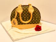 LV Inspired Purse Cake