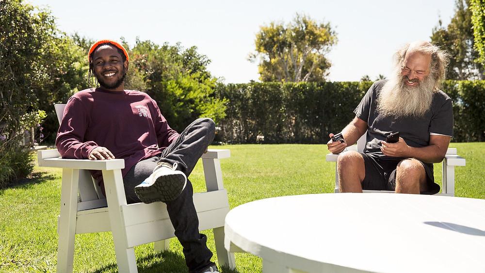 Kendrick Lamar and Rick Rubin. Photograph by Alan Gwizdowski