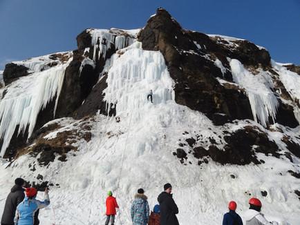 Традиционный ледовый фестиваль состоялся в бухте Тихая