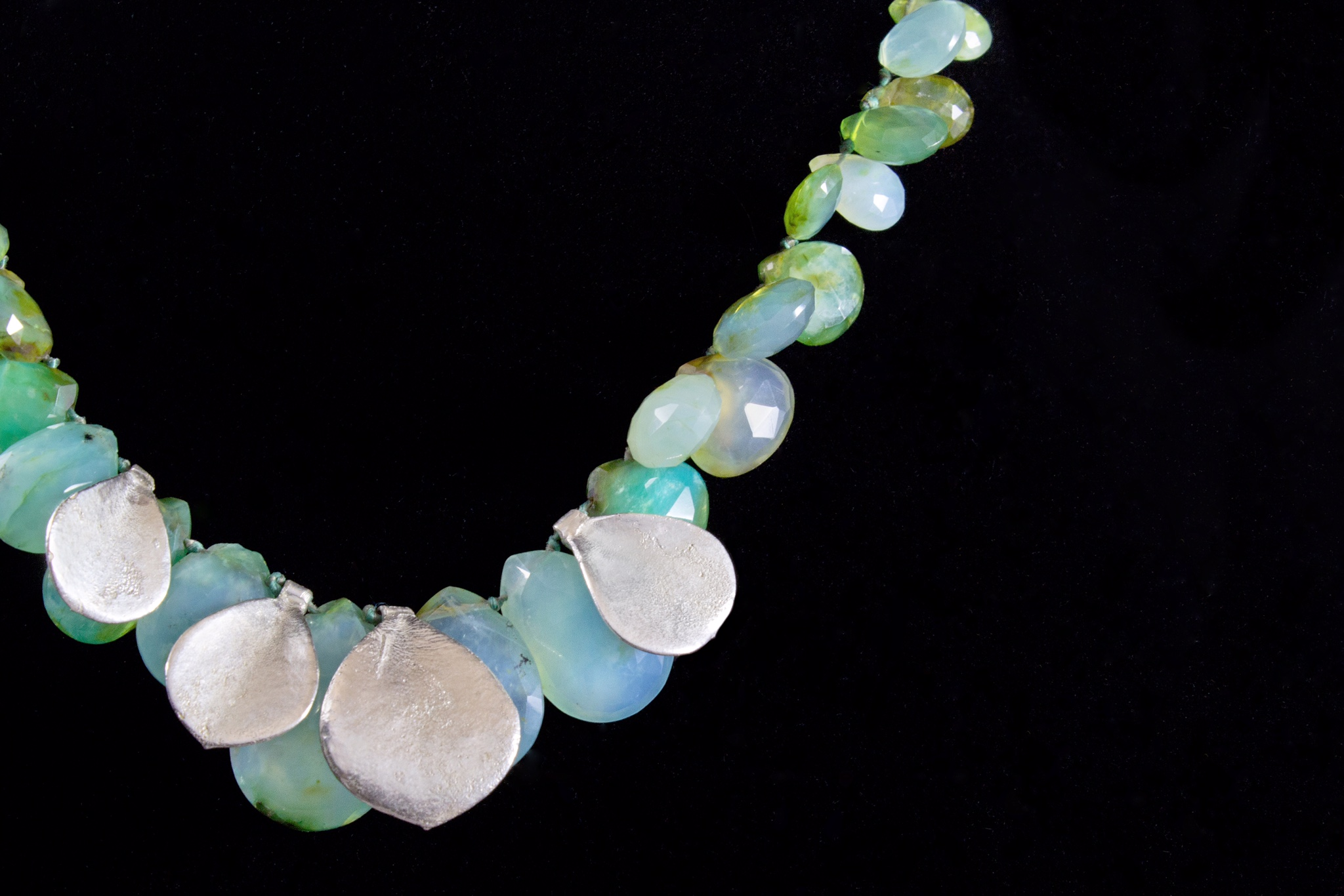 Chrysoprase Petal necklace