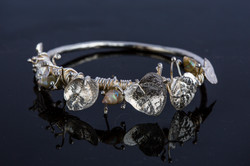 Shell & Sterling Silver Bangle