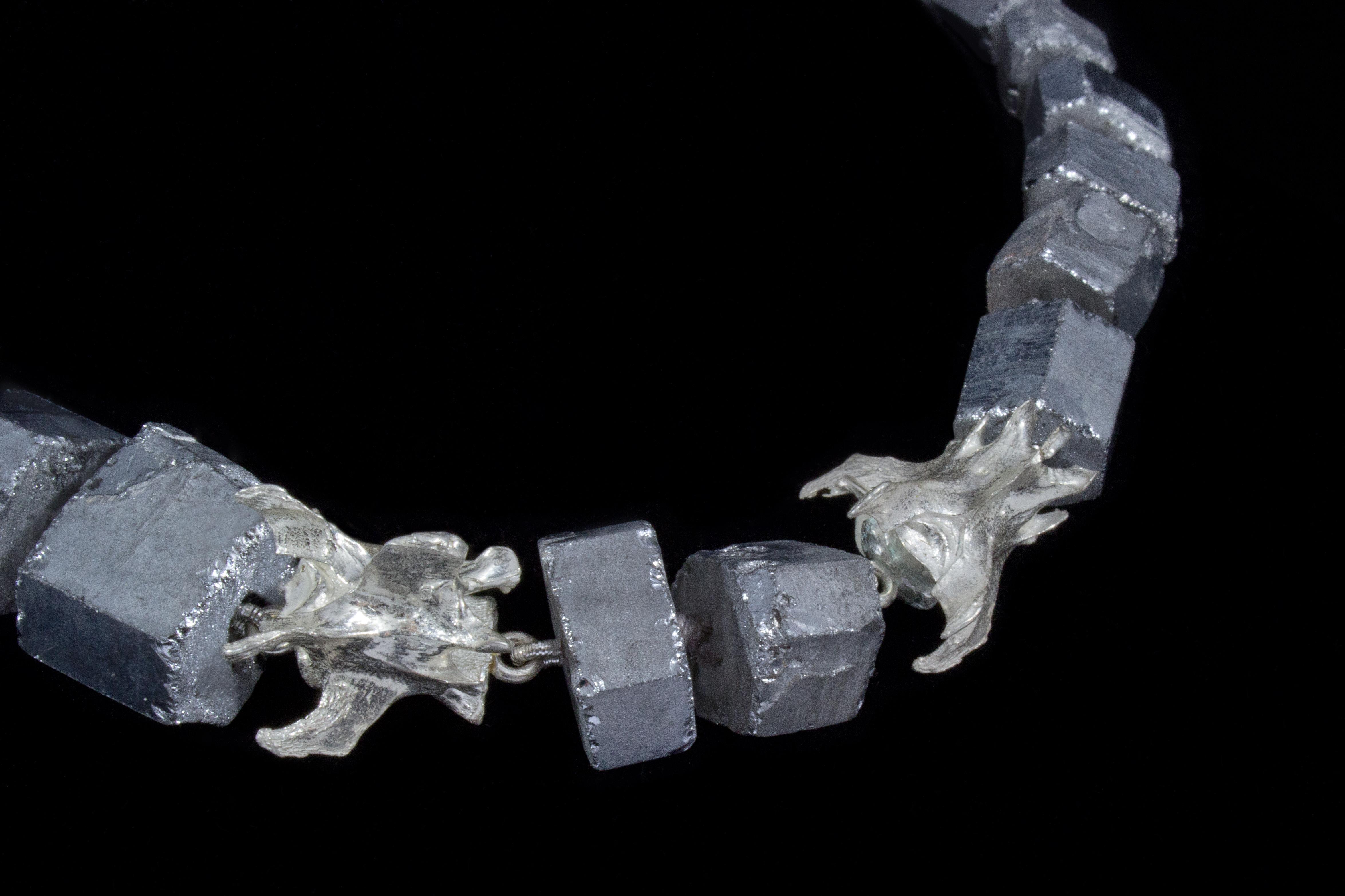 Druzy Quartz with Possum's Vertabre